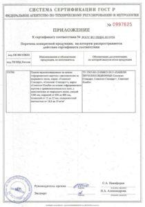 Соноплат Стандарт приложение к сертификату соответствия