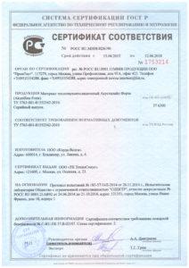 акустилайн форте сертификат соответствия