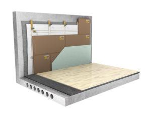 Система звукоизоляции стен ( деревянный каркас) «Стандарт П»