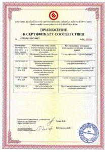 AcousticGyps приложение к сертификату соответствия