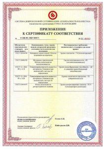 акустик гипс приложение к сертификату соответствия