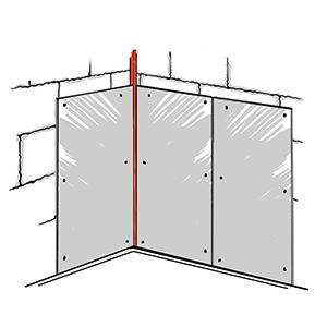 Стык акустик панелей