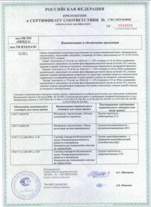 urbane сертификат соответствия